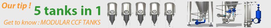 Modularne posode za fermentacijo piva - pet vrst fermentorjev piva v enem rezervoarju