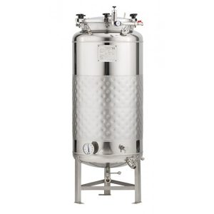 Bright beer tanks non-insulated, cooled with glycol