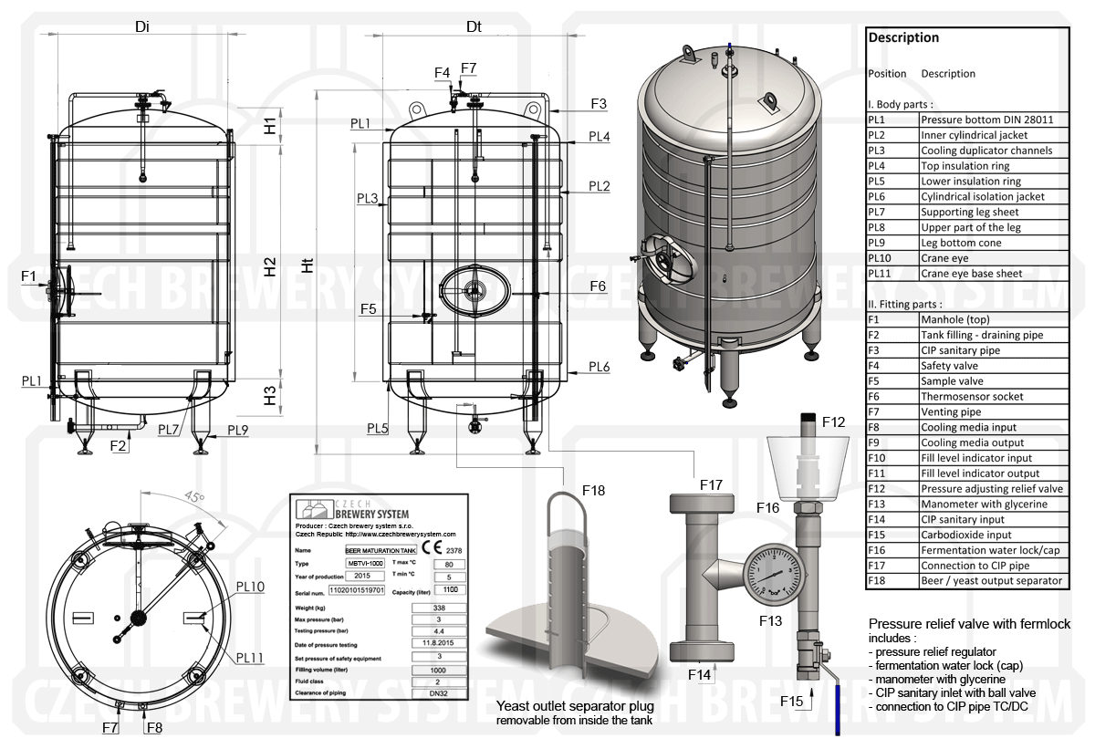 mlt   cylindrical beer maturation tanks