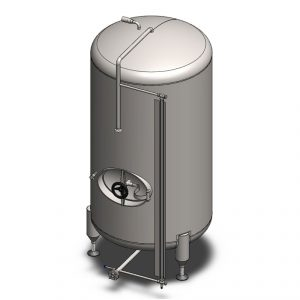 Pressure beer maturation tanks, non-insulated, vertical orientation