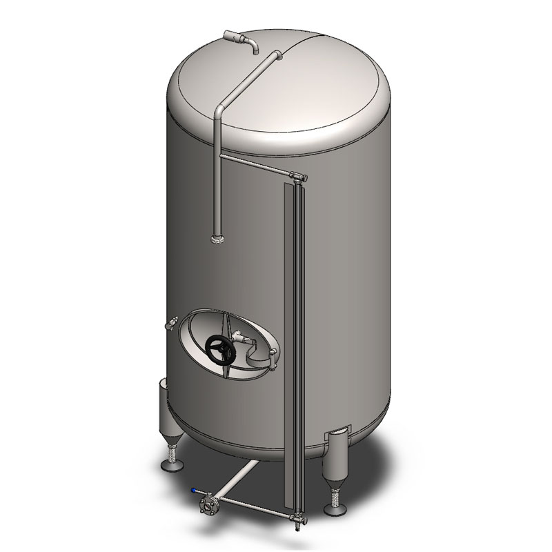 Pressure cylindrical BBT tanks without insulation, vertical
