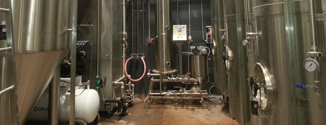 Beer production tanks for breweries
