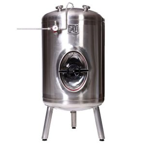 Vertical draft beer tank