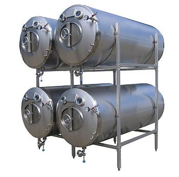 Pressure cylindrical BBT tanks without insulation, horizontal
